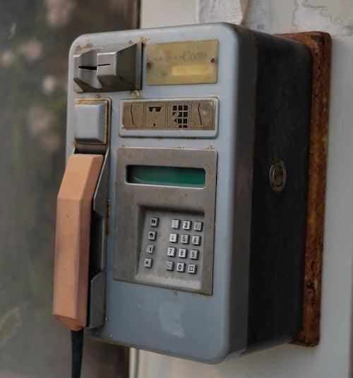 Antique telephone callbox